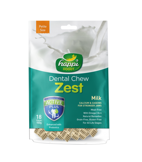 Happi Doggy Dental Chew Zest Milky Dental Chew Zest Apple 150g