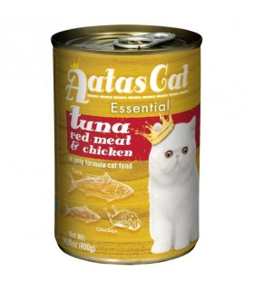 Aatas Essential Tuna Red Meat & Chicken In Jelly Canned Cat Food 400g x 24