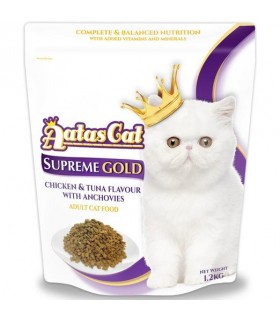 Aatas Supreme Gold Chicken & Tuna w Anchovies Dry Cat Food 1.2kg