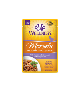 Wellness Healthy Indulgence Morsels Chicken & Chicken Liver 3oz