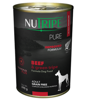 Nutripe Pure Beef with Green Tripe Dog Canned Food 390g x 24