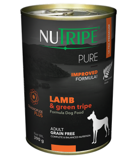 Nutripe Pure Lamb with Green Tripe Dog Canned Food 390g x 24