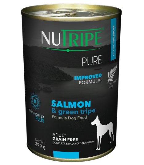 Nutripe Pure Salmon with Green Tripe Dog Canned Food 390g x 24