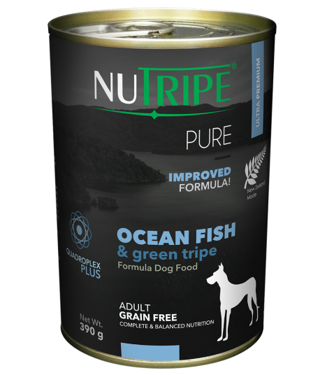 Nutripe Pure Ocean Fish with Green Tripe Dog Canned Food 390g x 24