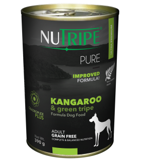 Nutripe Pure Kangaroo with Green Tripe Dog Canned Food 390g x 24