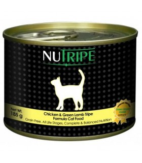 Nutripe Classic Chicken with Green Tripe Cat Canned Food 185g x 24