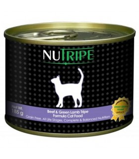 Nutripe Classic Beef with Green Tripe Cat Canned Food 185g x 24