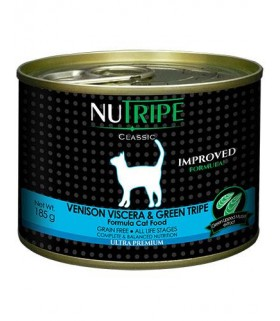 Nutripe Classic Venison with Green Tripe Cat Canned Food 185g x 24