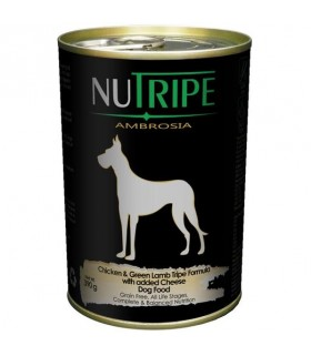Nutripe Ambrosia Chicken with Green Tripe Dog Canned Food 390g x 24