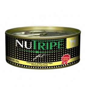 Nutripe Fit Chicken & Green Lamb Tripe Canned Cat Food 95g