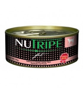 Nutripe Fit Salmon & Green Lamb Tripe Canned Cat Food 95g