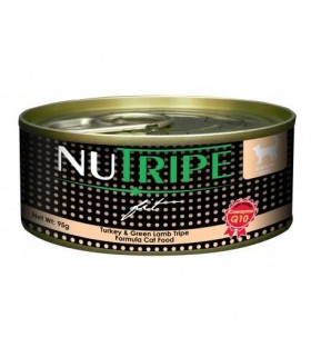 Nutripe Fit Turkey & Green Lamb Tripe Canned Cat Food 95g x 24