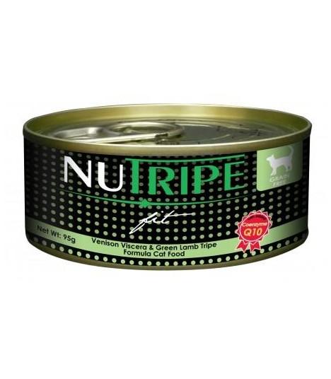 Nutripe Fit Venison & Green Lamb Tripe Canned Cat Food 95g x 24