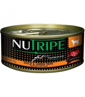 Nutripe Fit Duck & Green Lamb Tripe Canned Cat Food 95g x 24
