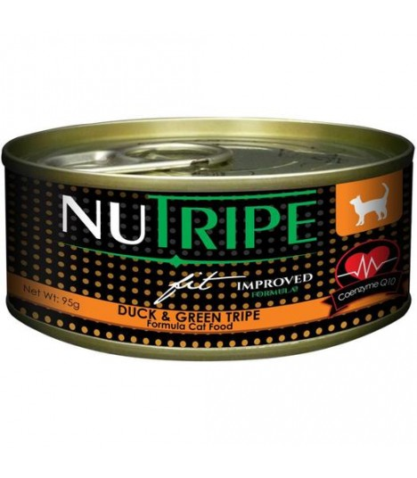 Nutripe Fit Duck & Green Lamb Tripe Canned Cat Food 95g x 24