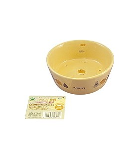 Marukan Rabbit Round Shape Feeder 350ml