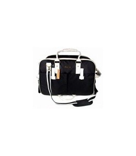 Pet Care BG-188BK-L Black White Striped Pet Carrier