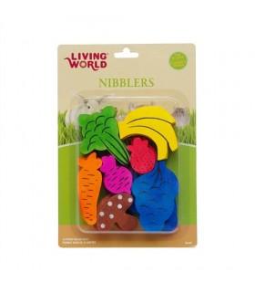 Hagen Living World Nibblers Wood Chew Fruit/Veggie Mix