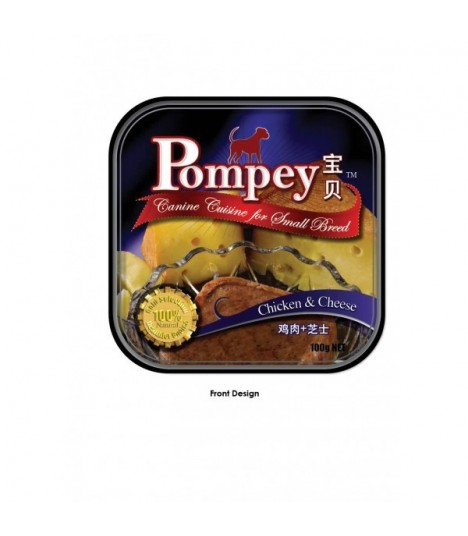 Pompey Chicken & Cheese Tray Food 100g