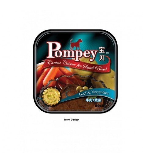 Pompey Beef and Vegetables Tray Food 100g