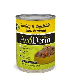 AvoDerm Turkey Stew w/Vegetables 12.5oz