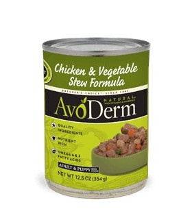 AvoDerm Chicken Stew w/Vegetables 12.5oz-10 cans