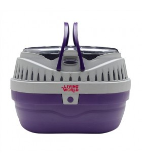 Hagen Living World Carrier Purple/Grey Small