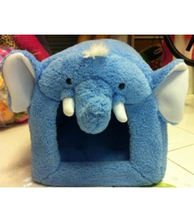 Blue Elephant Pet Bed