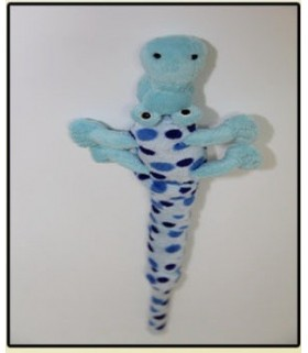 Soft animal teaser Crocodile blue