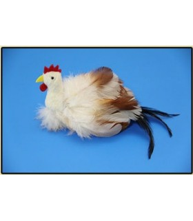 Fine feather toy rooster