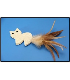 Organic loofah toy cat