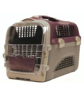 50780 Catit Cabrio Pet Carrier - Bargundy/Grey