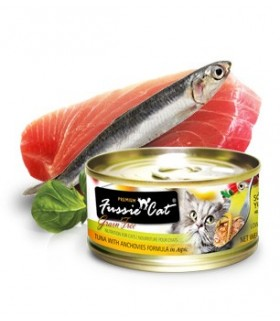 Fussie Cat Grain Free Premium Tuna with Anchovy Formula in Aspic 3oz x 24cans