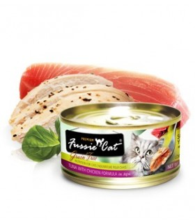 Fussie Cat Grain Free Premium Tuna with Chicken Formula in Aspic 3oz x 24 cans