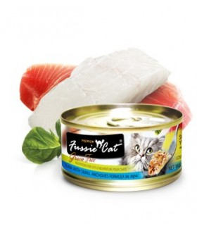 Fussie Cat Grain Free Premium Tuna With Small Anchovies Formula In Aspic 3oz x 24 cans