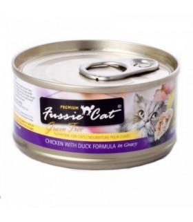 Fussie Cat Grain Free Premium Chicken with Duck Formula in Gravy 3oz x 24cans