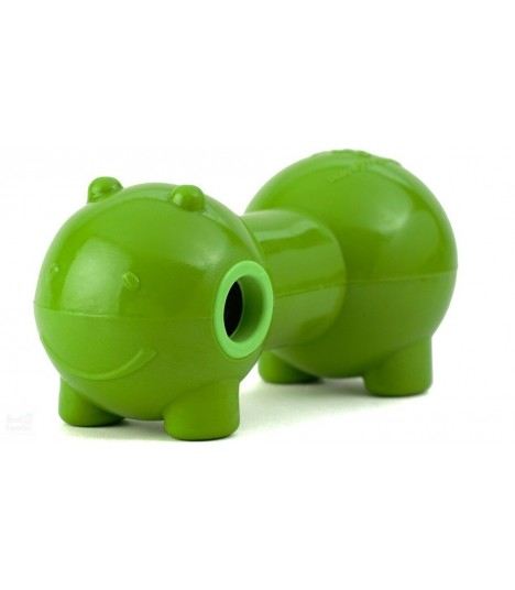 Dura Doggie Beba Squeaker And Treat Dispensing Toy Green