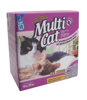 Hagen Catit Multi-Cat Premium Clumping Cat Litter 15kg