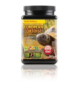 Exo Terra Juvenile European Tortoise Food Soft Pellets 260g