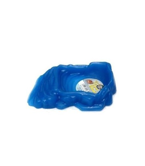 Zoo Med Hermit Crab Ramp Bowl - Neon Blue