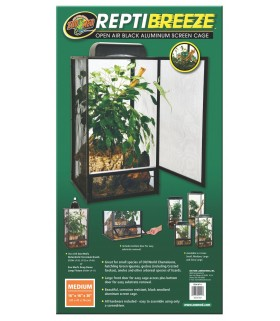 Zoo Med ReptiBreeze Alum Screen Cage Medium