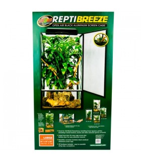 Zoo Med ReptiBreeze Alum Screen Cage Large