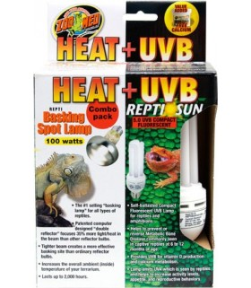 Zoo Med Heat + UVB Combo Pack 100W