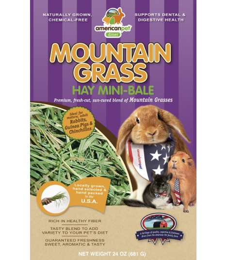 American Pet Diner APD Mountain Grass Hay 24oz