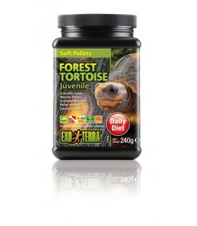 Exo Terra Juvenile Forest Tortoise Food Soft Pellets 240g