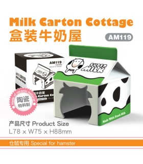 Pet Link Milk Carton Cottage Ceramic Hideout