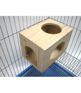 Pet Link Rectangle Wooden House