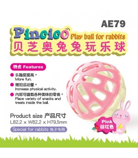 Alice Pincico Play Ball for Rabbits Pink