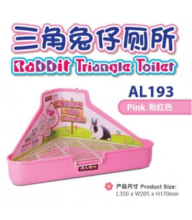Alex Rabbit Triangle Toilet - Pink