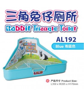Alex Rabbit Triangle Toilet - Blue